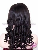 Yaki Loose Barrel Curl #1B Indian Remy Hair Full Lace Wigs